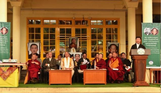司政洛桑森格在第十一世班禅喇嘛诞辰三十周年官方庆典上致辞 2019年4月25日 照片/Tenzin Phende/CTA