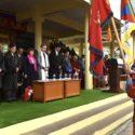 出席西藏自由抗暴六十一周年官方纪念活动的各界代表在为西藏英雄儿女默哀 2020年3月10日 照片/Tenzin Phende/CTA