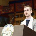 首席嘉宾捷克議會支持西藏小组創始成員和共同主席弗法蘭蒂斯·內特爾在在西藏自由抗暴六十一周年官方纪念活动上致辞 2020年3月10日 照片/Tenzin Phende/CTA
