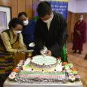 司政洛桑森格在慶典活動上切蛋糕 2020年7月6日 照片/Tenzin Pheden/CTA